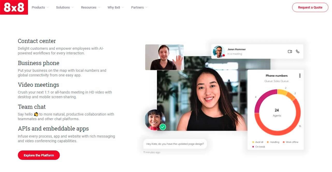 8x8 Website Screenshot
