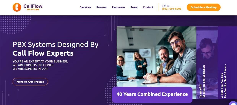 Call Flow Solution Website Screenshot