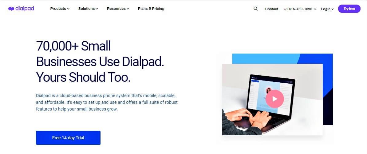DialPad website screenshot